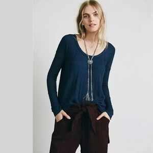 Free People Drippy Ventura Thermal High Low XS